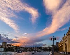 Wharfside wandering (Rakuli) Tags: ifttt 500px sydney luna park water wharf milsons point sunset glowing sky fire twilight