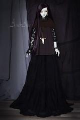Goth World (AyuAna) Tags: bjd ball jointed doll dollfie ayuana design handmade ooak clothing clothes dress set casual style dollmore modeldoll bella auden bellaauden whiteskin