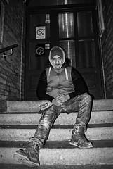 N.K. (Sareni) Tags: sareni serbia srbija vojvodina banat juznibanat alibunar center centar door vrata stepeniste nk light svetlost portret portraits bw blackandwhite crnobela winter zima night noc tripod january 2017 twop