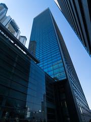Canon-scraping (H.H. Mahal Alysheba) Tags: wide building blue architecture tokyo japan lumix gx7 kipon efmft canon 1022mmf3545