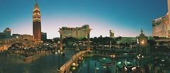The Vegas Sunset. (twinklingstars_) Tags: lights landscape venetian palazzo panaroma casinos sunset lasvegas