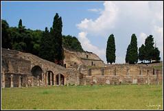 Quadriportico, ruinas de Pompeya (Italia, 2-7-2009) (Juanje Orío) Tags: italia pompeya panoramio 2009 patrimoniodelahumanidad whl0829 worldheritage ruina