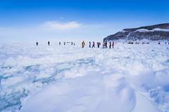 Walking on Driftice 04 (tomomega) Tags: 知床 流氷 北海道 雪 氷 ice snow driftice