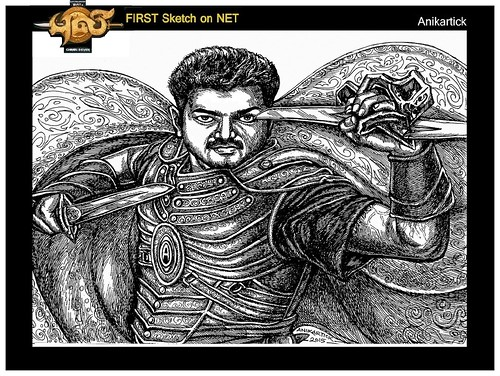 PULI / PULI MOVIE / PULI VIJAY ART / DRAWING / SKETCH / ILLUSTRATION / FIRST ON NET / Pen Drawing by / ANI / artist / Chennai / Tamil Nadu / India