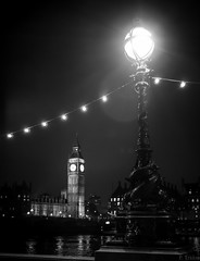 The Big Ben by Night (Polo-Foto) Tags: world light england white black france london night photography big flickr noir ben pentax united creative kingdom commons londres flare angleterre normandie nuit blanc nocturne k5 nocturn evreux tamise tridon