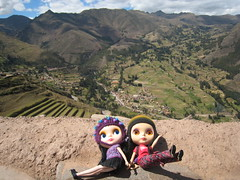 Whew! (Suedehead) Tags: trip peru cuzco doll tour blythe goldie coca ebony sacredvalley pisac enriqueta 2014
