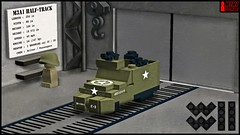 M3A1 HALF-TRACK (captaindundun) Tags: lego wwii halftrack m3a1