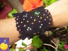 Brazalete Negro (Macradabra) Tags: design negro bracelet jewerly macram brazaletes macradabra