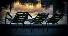 summer starting (Kb) Tags: sun paris water set garden chair r reflexion chaise tuilerie