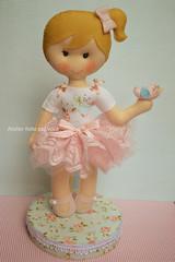 Bonequinha menina jardim (Ana Ribeiro2010) Tags: passarinho jardim feltro boneca bailarina festajardim