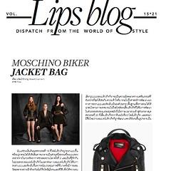 "Stay update with latest LB feature about ""Biker Jacket Bag"" in current issue of LIPS. บทความแฟชั่นและเทรนด์เรื่องใหม่ของ เรวัฒน์ ชำนาญ มีเนื้อความว่าด้วยคอลเล็กชั่นใหม่ของแบรนด์โมสชิโน่ ... ติดตามอ่านเรื่องเต็มได้ในลิปส์ฉบับใหม่ ขอบคุณครับผมม xx"