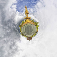 People's Palace/Terracotta fountain (ali mckellar) Tags: college fountain canon glasgow terracotta sigma fisheye worlds 8mm largest peoplespalace glasgowgreen ptgui tinyplanet 550d stereographicprojection panoplanet weeplanet gradedunit planosphere panosphere planetsphere