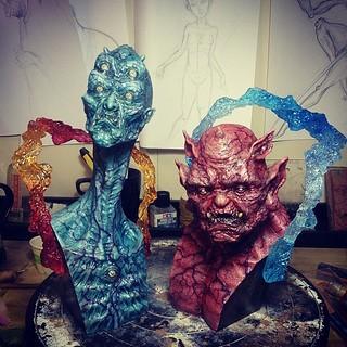 900 Sculptor Studio 玖零零原型工作室【千里眼將軍 vs. 順風耳將軍】台灣神話.神明 「眼觀千里災難」「耳聽四方哀告」