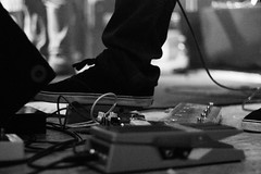 Pedal (ColdPrint Photography) Tags: blackandwhite music shoe concert wire guitar live band musik konzert effect pedal gitarre effekt schuh kabel wahwah pedale schwarzweis