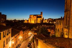 Basilica San Domenico, Siena (beautifulamnesia) Tags: longexposure travel italy san europe dusk basilica siena bluehour domenico travelphotography