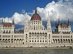Budapest - Parliament from the Danube (zorro1945) Tags: budapest hungary magyar europe europa danube donau river parliament parliamentbuilding gothicarchitecture dome cupola