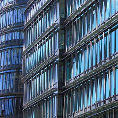 Black n' Blue (No Great Hurry) Tags: abstract reflection london reflections holbornviaduct shuttering blacknblue artite