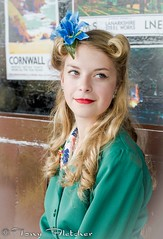 'LUCY LANE' - GCR - GREAT CENTRAL RAILWAY 1940'S WEEKEND 14th-15th JUNE 2014 (tonyfletcher) Tags: portrait model 1940s homefront worldwar2 40s greatcentralrailway reenactments ww11 gcr lucylane tonyfletcher greatcentralrailway1940s gcr40sweekend2014