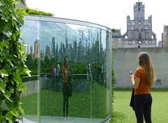 Hedge Two-Way Mirror Walkabout (KaDeWeGirl) Tags: newyorkcity roof reflection garden top manhattan themet metropolitanmuseumofart dangraham gnthervogt