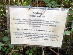 Onnola tags dog sign germany deutschland notice note schild hund