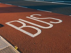 Bus lane (Ciaran C Reilly) Tags: texture public tarmac traffic transport culture lane commuter