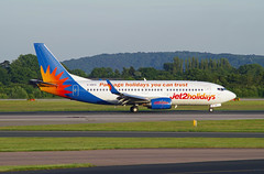 Jet2 Holidays Boeing 737-3U3(WL) - G-GDFO - Manchester Airport - 12th June 2014 - 03 (J.E.T. 603) Tags: manchester cheshire aircraft aviation boeing airliner 737 airfield manchesterairport ringway runwayvisitorpark jet2holidays ggdfo airviewingpark