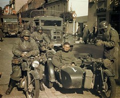 """Germans taking a rest in an occupied town • <a style=""""font-size:0.8em;"""" href=""""http://www.flickr.com/photos/81723459@N04/14617475583/"""" target=""""_blank"""">View on Flickr</a>"""