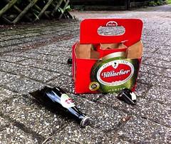No more beer for you (Wouter de Bruijn) Tags: broken beer glass drunk junk bottles empty case litter cardboard waste pils iphone marzen mrzen villacher iphone4