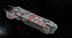 Battleship - Eudemus (Rennesis77) Tags: lego space scifi sciencefiction spaceship battleship microspace digitaldesigner