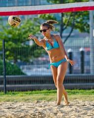 2014-07-07 BBV Women's Doubles (13) (cmfgu) Tags: girls woman net beach girl female ball court md sand outdoor maryland baltimore womens bikini volleyball athlete swimsuit league innerharbor doubles twos bbv 2s rashfield