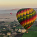 Hot air ballooning at sunirse over the River Nile in Luxor, Egypt.