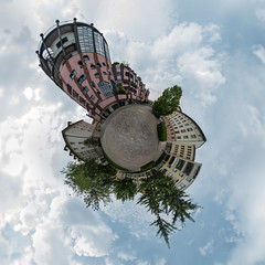 the riddle:  100 HO (diwan) Tags: architecture canon germany geotagged roundabout magdeburg planet hundertwasser 2014 ptgui equirectangular greencitadel geo:lon=11634990 geo:lat=52127304