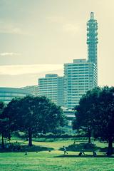 2014-8-15 MinatoMirai Yokohama Kanagawa Japan (kuma_photography) Tags: park japan canon 85mm 日本 yokohama kanagawa minatomirai 横浜 公園 神奈川 みなとみらい
