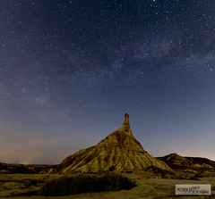dreams at night (Montse.P) Tags: night noche via nit lactea bardenasreales castill lactia