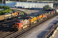The lash-up of the year? (Machme92) Tags: railroad cn rail row bn rails cp ge railfan freight bnsf railroads csx railroading railfanning csxt gevo railfans burligrton