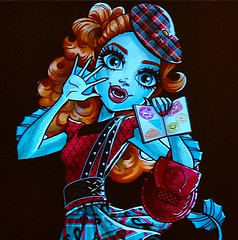 Lorna Mcnessie Artwork (MyMonsterHighWorld) Tags: monster high artwork san comic diego con lorna 2014 mcnessie