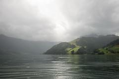 Wägitalersee (qitsuk) Tags: lake alps rain weather schweiz switzerland day canoeing schwyz wägitalersee wägital innerthal