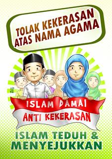 Poster Tolak Kekerasan Atas Nama Agama