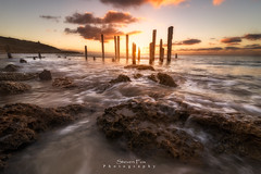 Last Glimmer Of Light (StevenFox(Mortalitas)) Tags: sunset sea seascape nikon waves south australia pt 16mm d600 wilunga