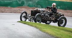 Darracq 200HP (kimbenson45) Tags: road brown history wet race helmet racing rainy historical vscc 1905 prescotthillclimb vintagesportscar darracq200hp