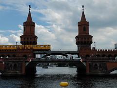 The most beautiful Bridge of Berlin - Oberbaumbrcke (Sockenhummel) Tags: berlin fuji dampfer finepix fujifilm spree x20 oberbaumbrcke dampferfahrt