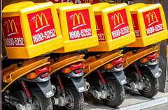 McDelivery....McDangerous! (samara_stirneman) Tags: asia fastfood scooter mcdonalds korean cheeseburger hamburger delivery takeaway southkorea unhealthy daegu