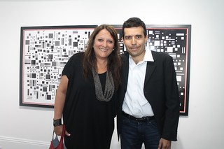 Curator of Singles to Multiples Amalia Caputo with architect  Francisco Canestri