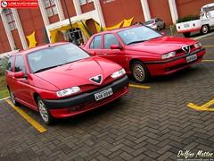 Alfa Romeo 155 Super & 145 Quadrifoglio (Delfino Mattos) Tags: paran car brasil super coche carro alfaromeo 155 londrina 145 automvel quadrifoglio twinspark worldcars