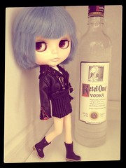 Just Chilling in the Freezer...Vodka Not Frozen...Bijon Rayen Very Frozen!  (BaD 9/6/14 ~ FROZEN)