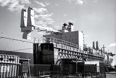 Dry Dock Arrival (jores59) Tags: 3 boston mediumformat 6x9 bostonma southboston 620film ilfordfilm medalistii kodakmedalist