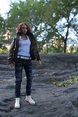Natasha's Outing (ShellyS) Tags: nyc newyorkcity centralpark manhattan parks actionfigures blackwidow hottoys natasharomanova
