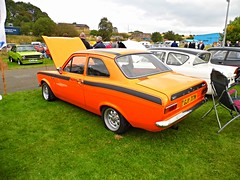 Lathalmond (View of a Ford Escort Mexico Mk1) (Netty 78) Tags: show orange black classic ford car mexico 1974 scotland automobile europe european day display fife united union rear great stripe scottish kingdom vehicle british escort 2014 mk1 lathalmond briain