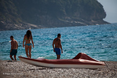 kayak (filipe mota rebelo | 400.000 views! thank you) Tags: vacation girl canon europe kayak bikini balkans albania 2014 balcans fmr plazhi pasqyra 5dmarkii filipemotarebelo