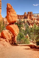 Balanced Rock (squeemu) Tags: park southwest nature rock utah hiking canyon hike national hoodoo bryce balance